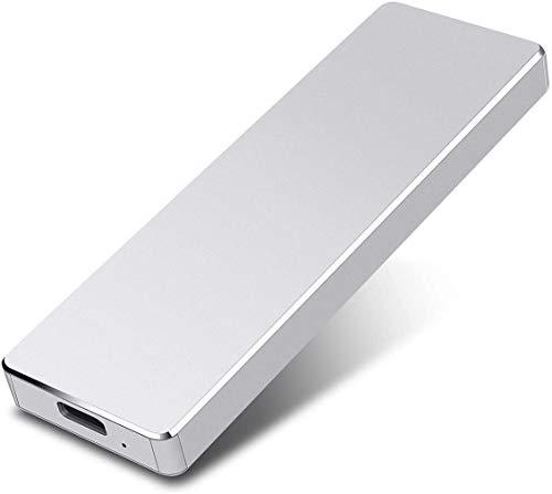 Disque dur externe 1 To, disque dur externe pour PC, ordinateur portable et Mac 1 To Argenté.