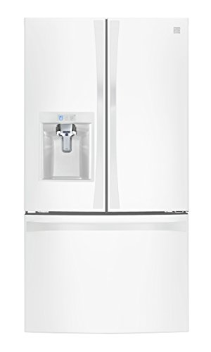 Kenmore 75049 Smart Counter Depth French Door Bottom Freezer Refrigerator, 24 cu. ft. in Black - Works with Alexa and enabled with Amazon Dash Replenishment System, includes delivery and hookup
