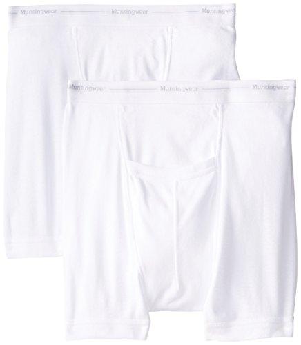 Munsingwear Men's 2-Pack Boxer Brief, White, Large