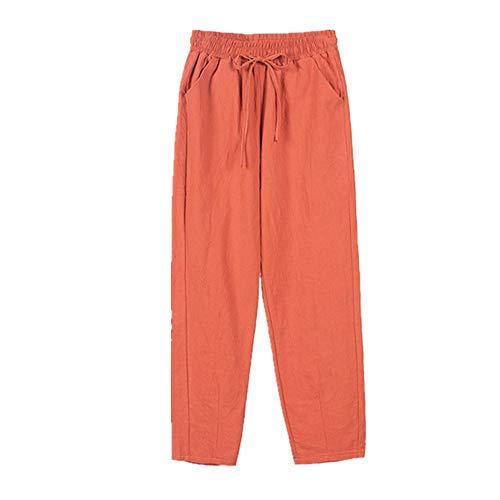 N\P Mujer Primavera y Verano Pantalones Cintura Elástica Pantalones Mujer