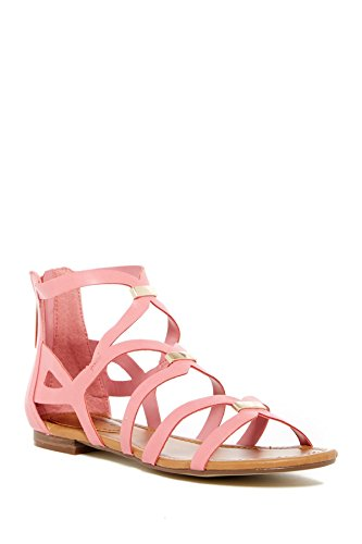Breckelle's Women's Covina-31 Strappy Flat Sandals Light Pink 5.5 B(M) US