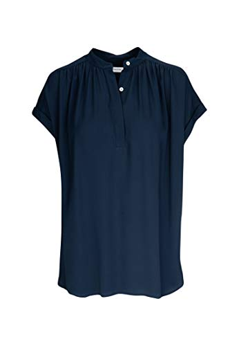 Seidensticker Damen Fashion Arm Bluse, Blau (19), 38