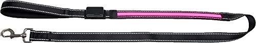 Karlie oLED Leine mit USB Ladegerät, 120 x 25 cm, rosa