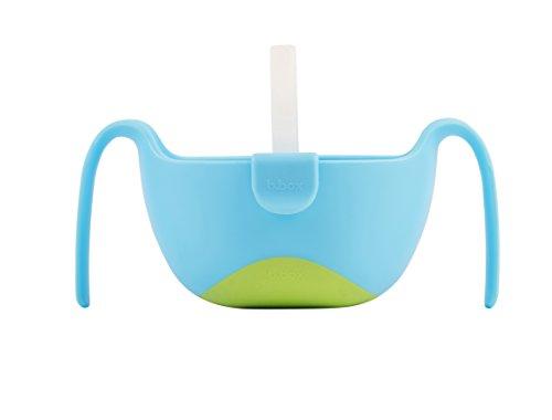 b.box XL-Schüssel mit Deckel und Strohhalm, ab 12 Monaten, Farbe: Ocean Breeze, 482 ml, BPA-frei, Phthalat- und PVC-frei, spülmaschinen- und mikrowellenfest.