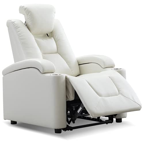 Faux Leather Power Armrest Lift Inside Controlled Button Recliner