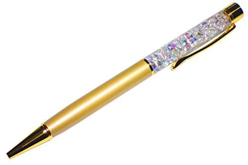 【色選択】 日本初 ダイヤ ハーバリウム ボールペン 完成品 本体1本 5mmオーロラAB 人工ダイヤモンド キュービックジルコニアルース30粒入り 替え芯1本付き ベロア調袋付き カラーをお選び下さい。 (ブロンズゴールド)