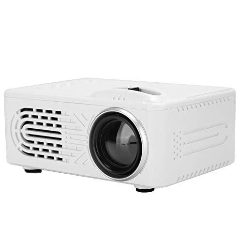 Jimdary Mini LED Beamer Unterstützt 1080P Full HD mit 20000 Stunden LED, Tragbarer LED Projektor HD, Kontrastverhältnis 1000: 1, Heimkino Beamer mit Fernbedienung für Film Unterhaltung Spiele(eu)