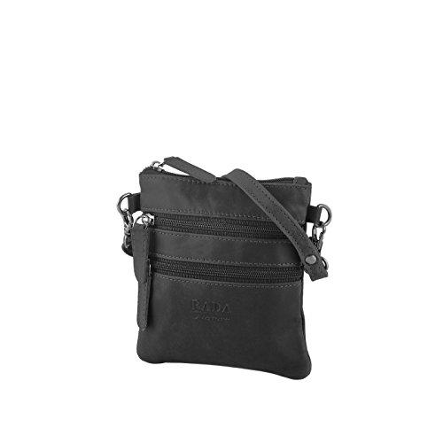 Rada Nature Umhängetasche 'Shepparton' echt Leder Handtasche (schwarz)