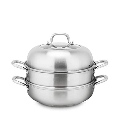 Double Chaudière Vapeur pots pour la fonte en Acier Inoxydable Cuiseur vapeur verre trempé Couvercle