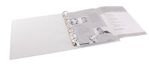 ELBA 100460996 Prospekthüllen 50 Stück für DIN A3 quer 0,09 mm oben offen gefalzt auf A4 genarbt blendfrei Universallochung Klarsichthülle ideal für Ordner Ringbücher und Hefter