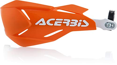 Acerbis 22397.203 Moto Hand Guards, Orange/White, Size Unifit
