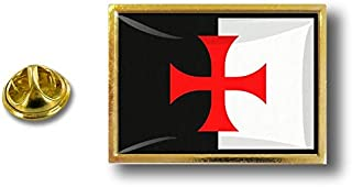 Spilla Pin pin's Spille spilletta Giacca Bandiera Distintivo Badge templare