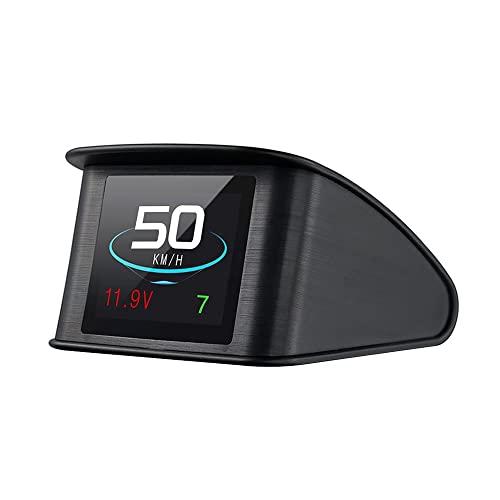 Lttrbx. T600 Universal Car HUD Head Up Display Digital GPS Speedometer with Speedup Test Brake Test Overspeed Alarm TFT...