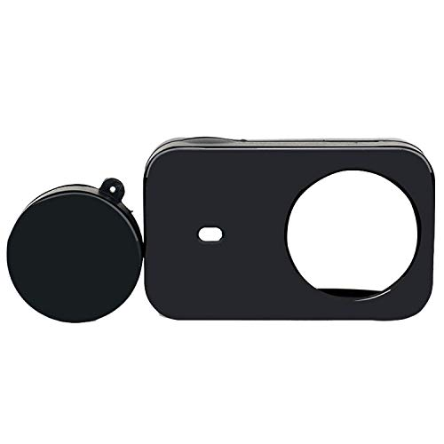 Scratchproof Shockproof Soft Flexible Silicone Camera Protective Case with Lens Cover Compatible with Xiaomi Mijia 4K Mini Action Camera Black