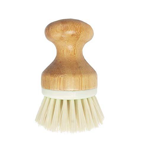Cepillo para Fregar ollas Utensilios de Limpieza Cocina 3.54 x 2.56 Pulgadas Cepillo para Platos Fregadora de Madera Cepillo de Limpieza