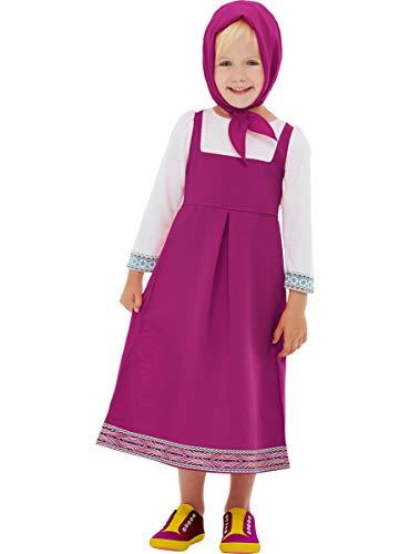 Funidelia | Disfraz de Masha - Masha y el Oso Oficial para niña Talla 3-4 años ▶ Masha and The Bear, Dibujos Animados - Color: Rosa - Licencia: 100% Oficial