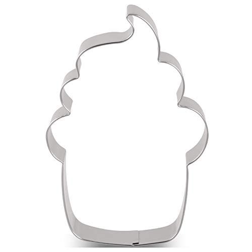 Esta forma es perfecta para una fiesta de té o el horario de verano. Garantizar la Seguridad de Los Alimentos - El acero inoxidable resistente a la corrosión y un grosor de 0,3 mm lo hacen extremadamente duradero y pueden reutilizarse muchas veces. M...