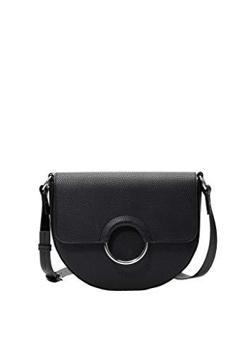 s.Oliver Red Label - Bolso bandolera para mujer con anillo de metal, color negro