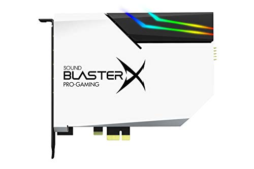 CREATIVE Sound BlasterX AE-5 Plus Pure Edition PCI-e Gaming-Soundkarte der SABRE32-Ultraklasse, 32-Bit/384kHz sowie DAC mit Dolby Digital und DTS, Xamp-Kopfhörer-Doppelverstärker, 122dB Rauschabstand