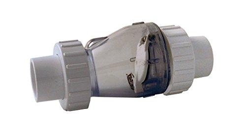 Preisvergleich Produktbild Valterra PVC Transparentes Rückschlagventil mit 3 / 3 Kupplung,  Ø 50 mm ohne Feder