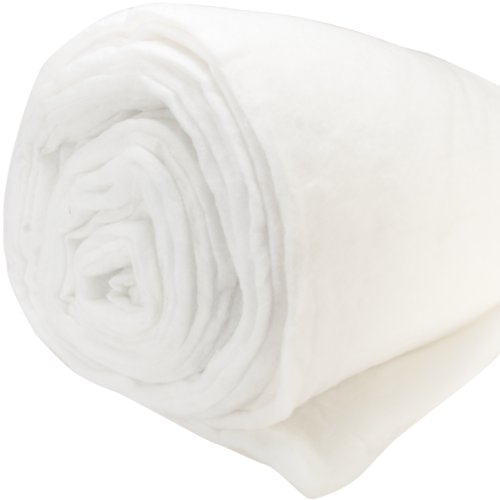 Air Lite Polyester Batting Medium to High Loft 12oz Per Yard-Double Rolled 100' X25 Yards