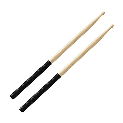 Drumsticks ANTI-SLIP Handles for Drum Set 5A Durable Exercise Wooden Drum Sticks for Adults, Musical Instrument Percussion Accessories.