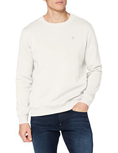 G-STAR RAW Herren Premium Core Sweatshirt, Beige (milk-C235-111), S