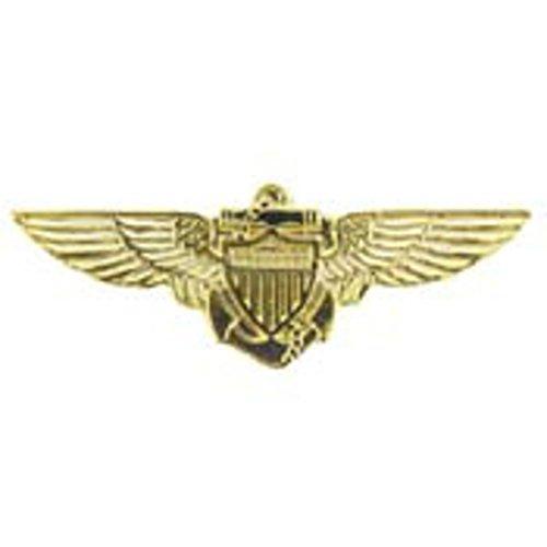 US Navy Naval Aviator Pilot Wings Lapel Pin or Hat Pin (1 1/8')