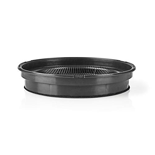 TronicXL Profi Fett + filtro de carbón activo redondo de 19 cm para campanas extractoras Whirlpool, Ikea, Siemens, Miele, Bosch, AG, Samsung, Neff (4 unidades)