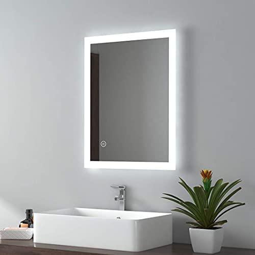 Luz LED para espejo de baño, Espejo con luz frontal Tocador Luz de espejo de ahorro de energía, Espejo de tocador de baño multifunción con luz