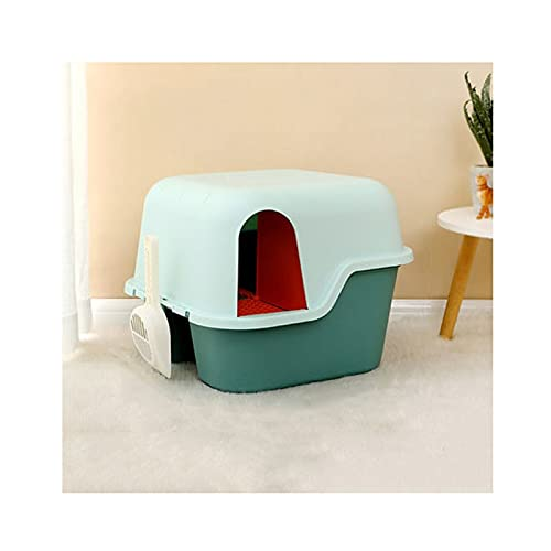 lg litter boxes SANYAXIAODONG8 Cat Litter Box Enclosure Corridor-Style Litter Box Fully Enclosed Large Deodorant and Sand-Proof Long Aisle Cat Toilet Kitty Supplies Cat Litter Boxes for Indoor Cats (Size : C)