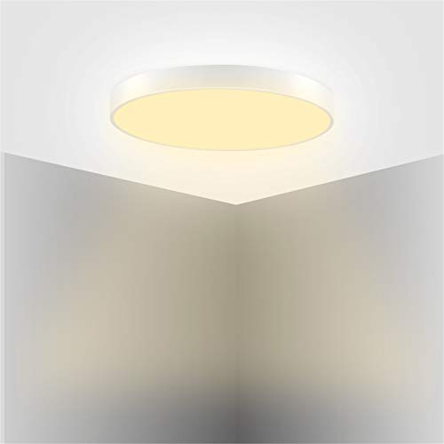 HXFYJ Lámpara de Techo Redonda LED, luz de Techo LED de 28W 1680lm, Accesorio de iluminación de Panel ultradelgado para el Pasillo de la Sala de Estar del Dormitorio,Warm White