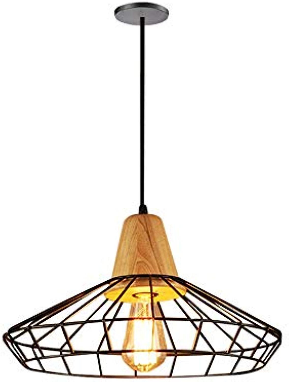JDFM5 Wood iron line, schwarz, 40  24cm Pendelleucht vintage dimmbar Hngelampe Deckenleuchte Deckenbeleuchtung Hngeleuchten Leuchte Kronleuchter Lampe