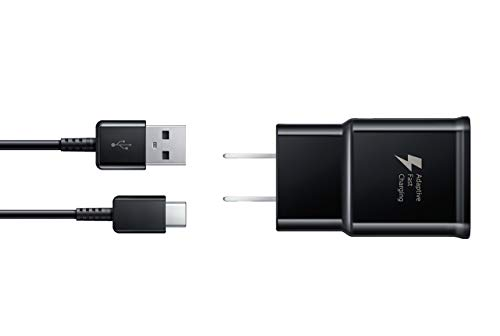 Samsung Fast Charge USB-C 15W Wall Charger – Black- Galaxy Note8, Galaxy S8, and Galaxy S8+ Inbox Replacement