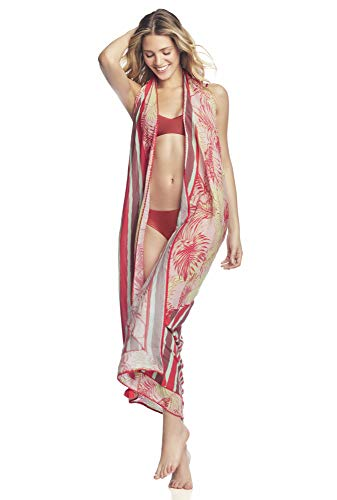 Maaji Women's Mixed Print Way Sarong Cover Up Pareo, Morning Oasis Multi, OSmall