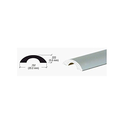 CRL Brushed Nickel Frameless Shower Door Half-Round Threshold - 31 in long