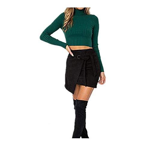 OKJI Womens Truien 2019 Winter Tops Coltrui Vrouwen Dunne Pullover Jumper Gebreide Trui Pull Femme Korte Tops