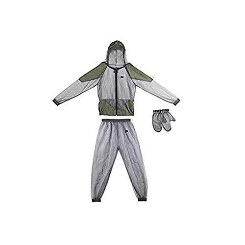 Kadahis 虫除けウェア 虫よけメッシュパーカー ジャケット+ミトン+ズボン3点セット 着るだけで虫除け 害虫 毒虫対策 農業作用 畑用 採集 釣り 軽量 耐久性 速乾性 ガーデニング 屋外活動などに 男女兼用 (XL)