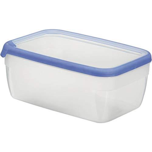 CURVER Boîte Grand Chef - Alimentaire Transparente Rectangulaire Plastique - Grande Capacité 5,4L - Boîte Conservation Tous Types d'Aliments - Adapté au Micro-Ondes, Lave-Vaisselle, Congélateur- Bleu