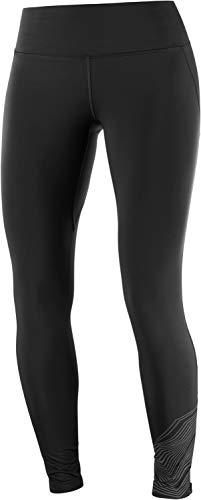 SALOMON Agile Warm Tight W Mallas para Running, Negro/Reflectante, Talla M para Mujer