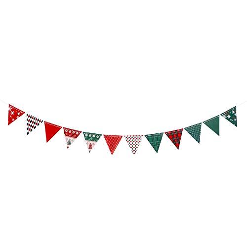 BESTOYARD Bannières de noël Drapeaux noël noël banderoles bannières Porte et tenture décoration Ornements Home Party