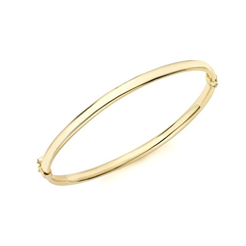 Carissima Gold 9 ct Yellow Gold Oval Bangle