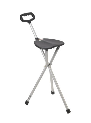 Drive Medical Deluxe Folding Cane Seat Black