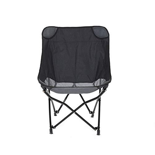 SMBYLL Chaise Pliante d'extérieur, Chaise de Plage portative à l'arrière, Poids léger et Rangement Pratique, Deux Couleurs en Option Chaise Pliante (Color : Black)
