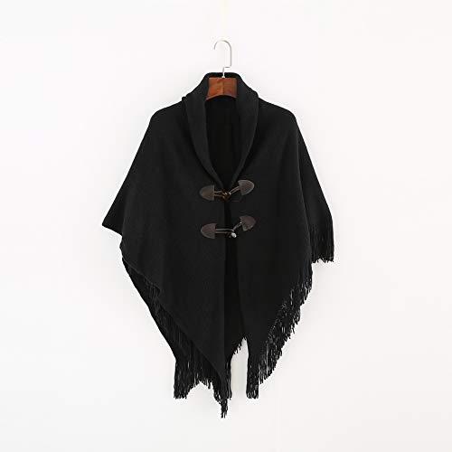 MCZWJ sjaal XXL herfst en winter dames sjaal sjaal sjaal knoop gebreide jas capuchon zachte dikke sjaal vrouwelijke