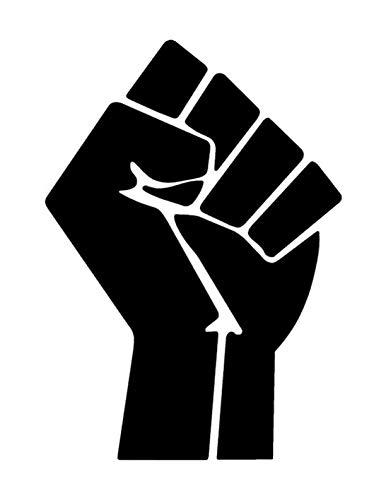 Reusable Sturdy Stencil Raised Fist Black Power 8.5