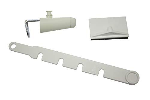 Gardinia Feststeller für Kippfenster weiß, Plastik, 10 x 4 x 1 cm
