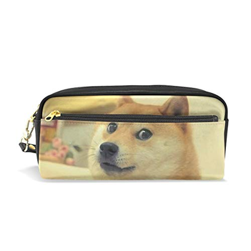 Funny Doge Pencil Case Travel Makeup Organizer Clutch Bag with Zipper for Kids Children Teen