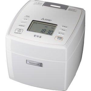 三菱電機 IHジャー炊飯器 備長炭炭炊釜 1升炊き ピュアホワイト NJ-VE187-W