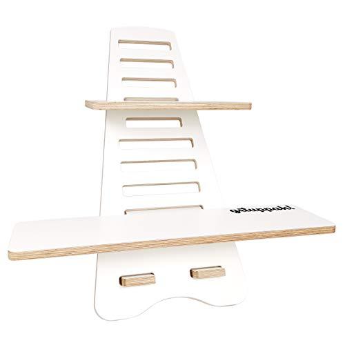 Getuppah! Económico, eficiente y ergonómico, escritorio de pie con altura ajustable para oficina en casa, madera, ligero y fácil de almacenar.
